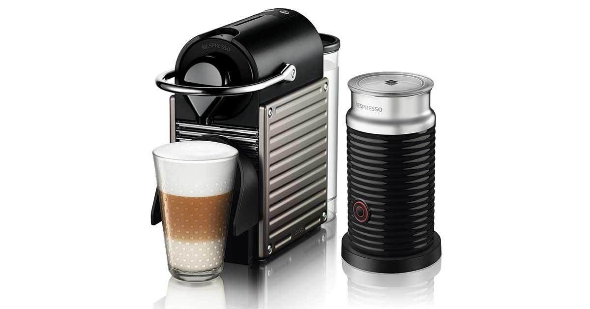 Macchina da caffè Nespresso Pixie con Aeroccino XN301T