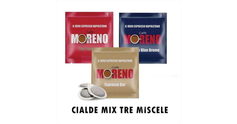 Caffè in cialde di carta Moreno tre miscele