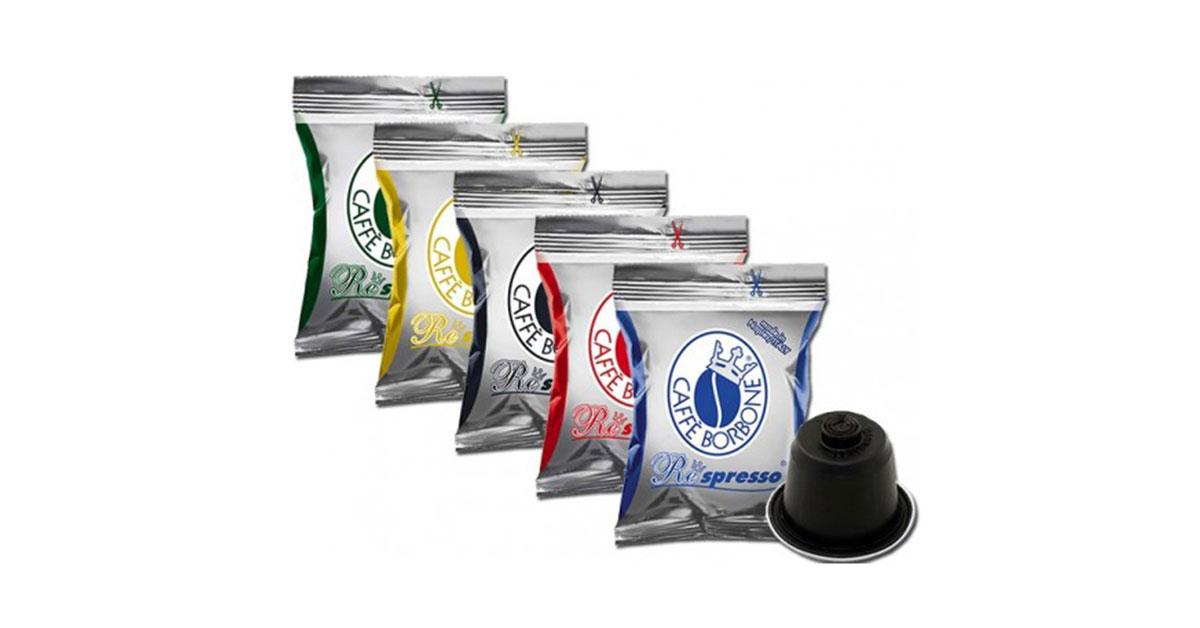 Capsule di Caffè Borbone Respresso, compatibili con le macchine da caffè Nespresso