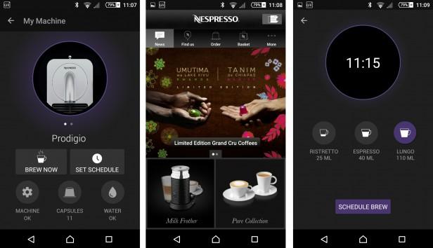 Nespresso prodigio app